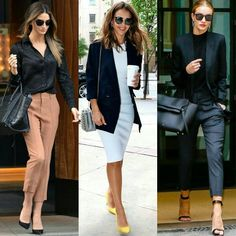 "640 Me gusta, 2 comentarios - Celebrities & Bloggers (@celebrities_and_bloggers) en Instagram: ""Ways To Wear Black For Work... #LilyAldrige #JessicaAlba #RosieWhiteley"""