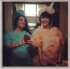 The Old Country Blog: Cotton Candy Costumes Cotton Candy Halloween Costume, Halloween Costumes To Make, Candy Costumes, Circus Costume, Homemade Halloween, Halloween Cosplay, Cool Costumes, Halloween Fun, Costume Ideas