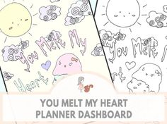 You Melt My Heart Planner Dashboard | www.sweetestchelle.com Planner Dashboard, My Heart, How To Draw Hands, Blog, Project Life Organization