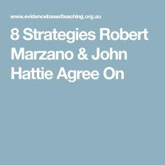 8 Strategies Robert Marzano & John Hattie Agree On