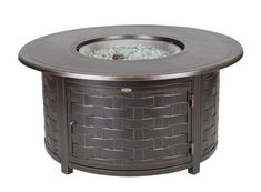 Hanamint Mayfair Oval Closed Gas Fire Pit Table Mayfair
