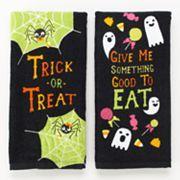 Halloween ''Trick or Treat'' 2-pk. Kitchen Towels; Sale $5.99