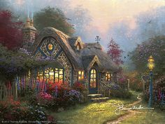 Thomas Kinkade - Candlelight Cottage  1997