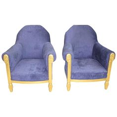 French Art Deco Pair of Armchairs Giltwood by Paul Follot, circa 1920s 1