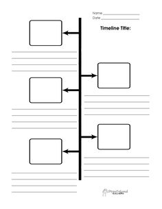 PrintableTimelineTemplate Lapbooking Ancient Civ - Plain timeline template