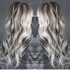 Image result for platinum ombre 2017 long hair