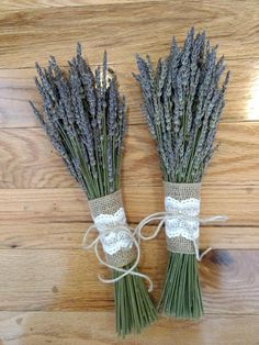 Rustic French Lavender or combo French/English bouquet. Wedding decor, vintage, country, home decor.