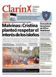 Malvinas: Cristina planteó respetar el interés de los isleños. Más información: www.clarin.com