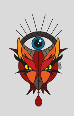 #phoenix #momusso #draw #illustrator #eye