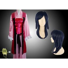 Magi Labyrinth of Magic Gyokuen Ren Cosplay Costume + Wig (€125) ❤ liked on Polyvore featuring costumes, role play costumes, cosplay halloween costumes, wig costumes and cosplay costumes