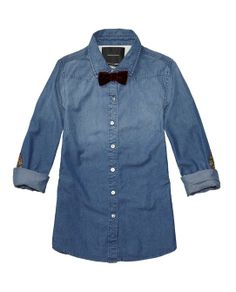 Preppy Shirt With Floral Elbow Patches - Scotch & Soda