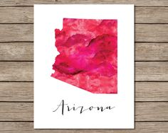 Arizona Printable  INSTANT DOWNLOAD Printable  red by CraftMei