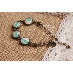 Cool Summer Time Watch Pattern Acrylic Link #Bracelet #chemjoy.com
