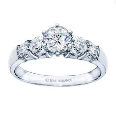 Rm504-14k White Gold Classic Engagement Ring - RM504-H