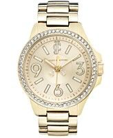 Juicy Couture Watch, Women's Jetsetter Gold-Tone Stainless Steel Bracelet 38mm 1900959