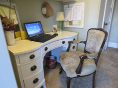 French style chair and desk at Bringing French Country Home.