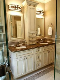 French Country bathroom by Elayne Gebert, ASID