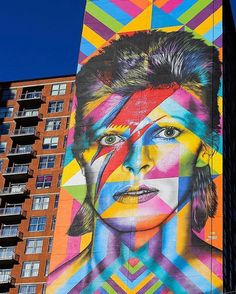 New must see: This stunning mural by Eduardo Kobra in Jersey City to honor David Bowie  (: @gettyimages) @huffingtonpost