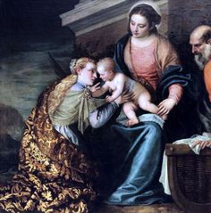 Paolo Caliari, known as Paolo Veronese (1528–1588) Le mariage mystique de Sainte Catherine. The mystical marriage of St. Catherine. Venise, vers 1565. Montpellier Musée Fabre.