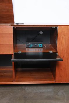 George Nelson Stereo Cabinet for Herman Miller   From a unique collection of antique and modern cabinets at https://www.1stdibs.com/furniture/storage-case-pieces/cabinets/