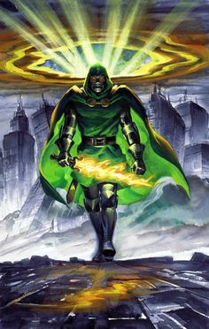 Dr. Doom by Steve Rude. Makes me wonder who'd win in a fight: Dr. Doom or Darth Vader. Might be a draw.