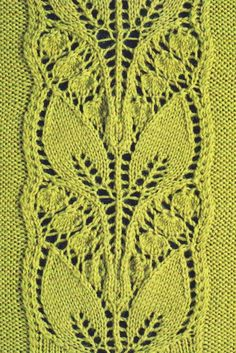 Leafy Knitted Lace Panel  Knitting Pattern | Free Pattern | knit Pattern | Free knitting Pattern | Free Knit Pattern | Knit Lace | Knitting Lace | Knitted Lace