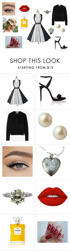 """""""Secret project"""" by avyy2010 ❤ liked on Polyvore featuring Giuseppe Zanotti, Everlane, Carolee, Lime Crime and Chanel"""