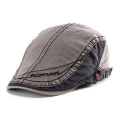 Homens mulheres retro boina de algodão boné ocasional encabeçado pico chapéu