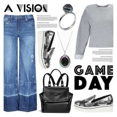 """""""60 Second Style: Game Day"""" by littlehjewelry ❤ liked on Polyvore featuring Tortoise, Miss Selfridge, STELLA McCARTNEY, Givenchy, gameday, contestentry, pearljewelry and littlehjewelry"""