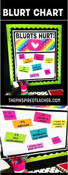 Blurt Chart Anchor Charts help students understand why it is not okay to blurt out in class.   Behavior Chart   Classroom Management   Classroom Management Ideas for blurting out and interrupting the teacher by The Pinspired Teacher