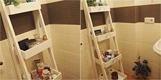Bricolaje para el baño: Una fantástica estantería-escalera