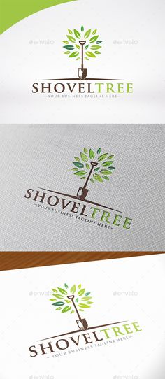 Shovel Tree - Logo Design Template Vector #logotype Download it here: http://graphicriver.net/item/shovel-tree-logo-template/12931408?s_rank=480?ref=nesto