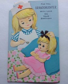 A personal favorite from my Etsy shop https://www.etsy.com/listing/262677597/vintage-birthday-card-girls-birthday