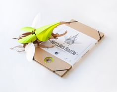 DIY Paper Beetle Sculpture Kits by Assembli | Colossal