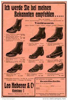 Original-Werbung/Inserat/ Anzeige 1928 - 1/1 SEITE - SCHUHHAUS LEO HABERER - KONSTANZ  - ca. 190 X 280 mm