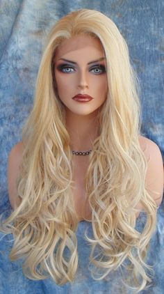Lace Front Wig COLOR H24.613A SOFT LONG FLOWING WAVES SEXY  USA SELLER  169 #SEPIA #LaceFront