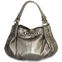 Large Slouchy Hobo Handbag (Pewter Gray)