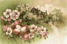 Remodelaholic   20 Free Vintage Spring Landscape Printable Images