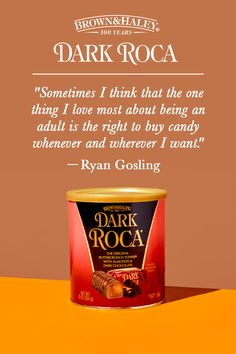 Exercise your right to life, liberty, and pursuit of #DarkChocolate. #AlmondRoca #DarkRoca #Brown&Haley Almond Roca, Chocolate Quotes, Sweet Quotes, Cocoa Butter, Canisters, Toffee, Liberty, Exercise, Graphic Design