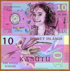 100 Kasutu POLYMER Poneet Islands Private Issue UNC 2015