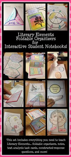 Awesome collection of foldable organizers for interactive student notebooks!