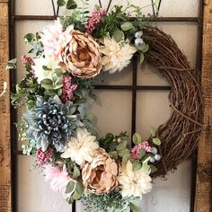 eucalyptus wreath Farmhouse spring wreath Spring wreaths for front door High end wreath Spring peony wreath Floral spring wreath – Fall Wreath İdeas. Christmas Mesh Wreaths, Deco Mesh Wreaths, Holiday Wreaths, Ribbon Wreaths, Winter Wreaths, Floral Wreaths, Burlap Wreaths, Prim Christmas, Diy Spring Wreath