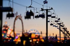 Falling in love with fairgrounds at sunset / via tumblr