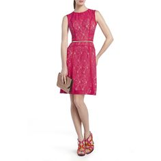 Loving colorful lace for fall! BCBGMAXAZRIA - LACE: KHLOE LACE COCKTAIL DRESS