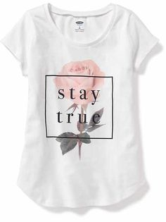 Girls Clothes: Up to Off Kids Sale Shirt Print Design, Shirt Designs, Old Navy Kids, Kids Outfits, Cool Outfits, Preteen Fashion, Printed Shirts, Shirt Style, T Shirts For Women