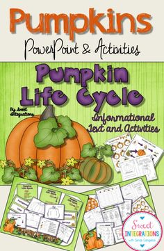 Pumpkin Life Cycle; PowerPoint, math, minibook, graphic organizers and more; $