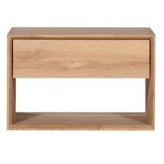 Ethnicraft Oak Nordic 1 Drawer Bedside Table | Clickon Furniture | Designer Modern Classic Furniture