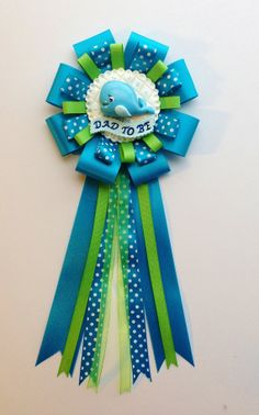 Ahoy Baby Boy Whale Corsage  Under the Sea Theme by LezlieZDesigns, $25.00