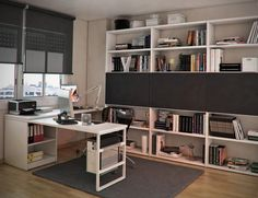 Teens Room Ikea Narrow White Billy Bookcase With Small Wood Computer Desk Also Drawers And Modern Hardware Monitore Computer Besides Black Technology Plastic Printer  Furniture Iron Arch Lamp   Modern Teen Workspaces Style
