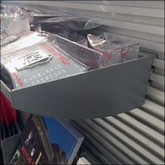 Cupped Metal Slatwall Tray Mini Bulk Bin